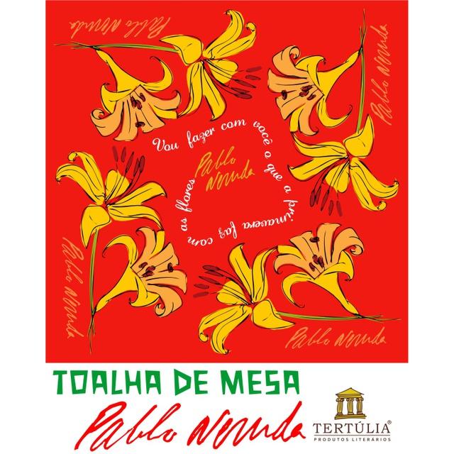 Toalha de Mesa Pablo Neruda - Vermelha