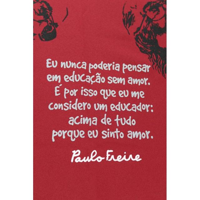 Toalha de Mesa Paulo Freire Bordô