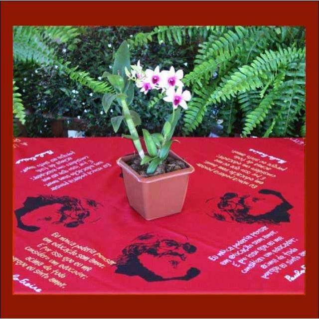Toalha de Mesa Paulo Freire Vermelha