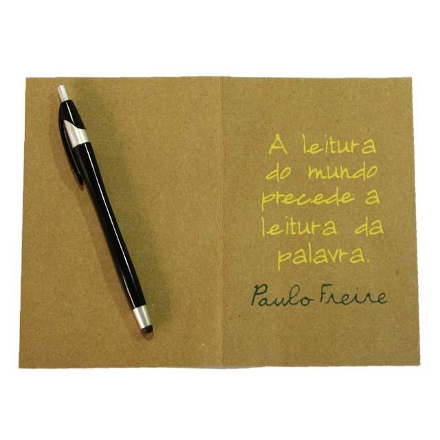 Cartão Paulo Freire Leitura