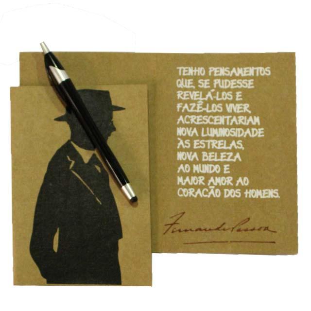 Cartão Fernando Pessoa Pensamentos