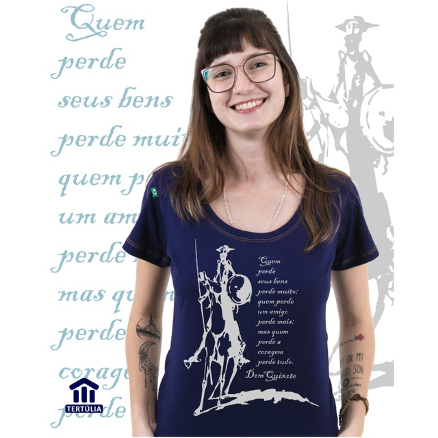 Babylook Dom Quixote Coragem Marinho