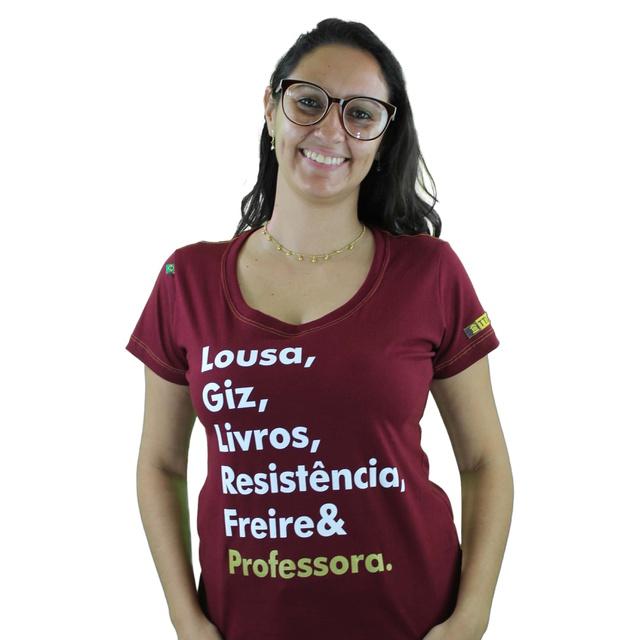 Babylook Freire e Professora Bordô