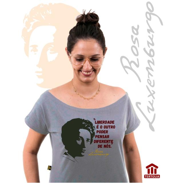 Bata Rosa Luxemburgo Cinza