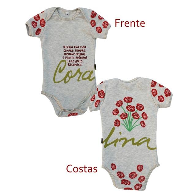 Body Bebê Cora Coralina Gelo