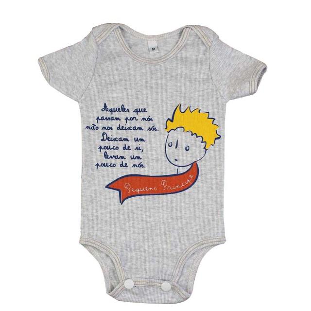 Body Bebê Pequeno Príncipe Manga Curta Gelo