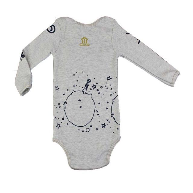 Body Bebê Pequeno Príncipe Manga Longa Gelo