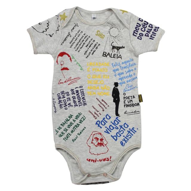 Body Bebê Manga Curta Só eu Tenho Gelo