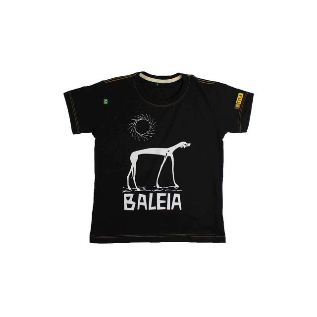 Camiseta Infantil Graciliano Ramos Baleia Preta