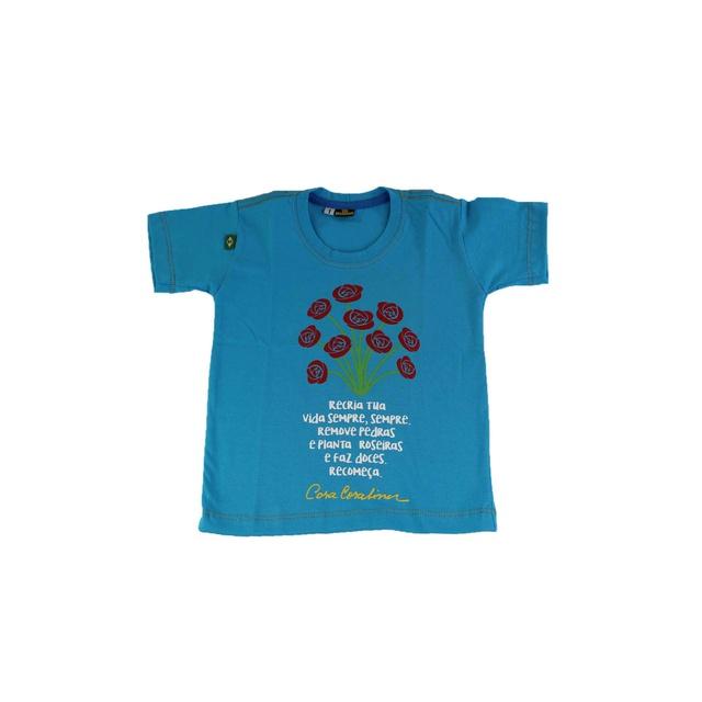 Camiseta Infantil Cora Coralina Azul Royal