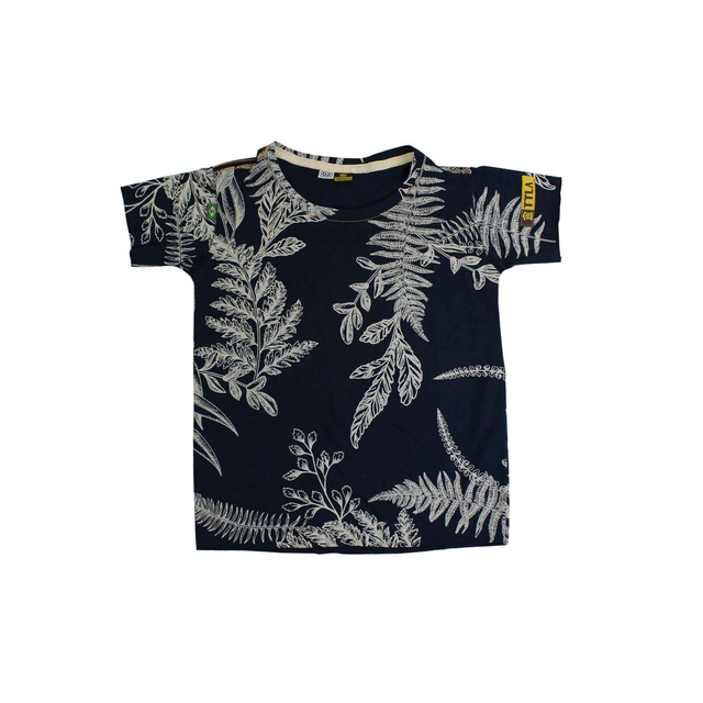 Camiseta Infantil Poesia Floral Marinho