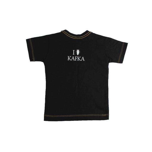 Camiseta Infantil Kafka Preta