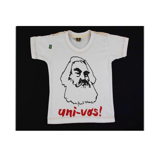 Camiseta Infantil Karl Marx Branca