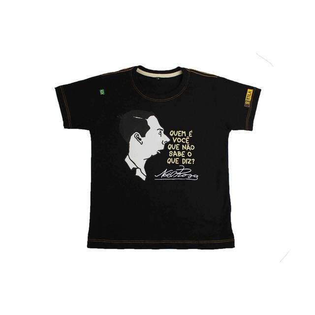 Camiseta Infantil Noel Rosa Preta