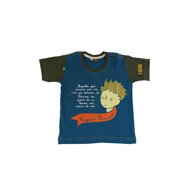 Camiseta Infantil Pequeno Príncipe Azul