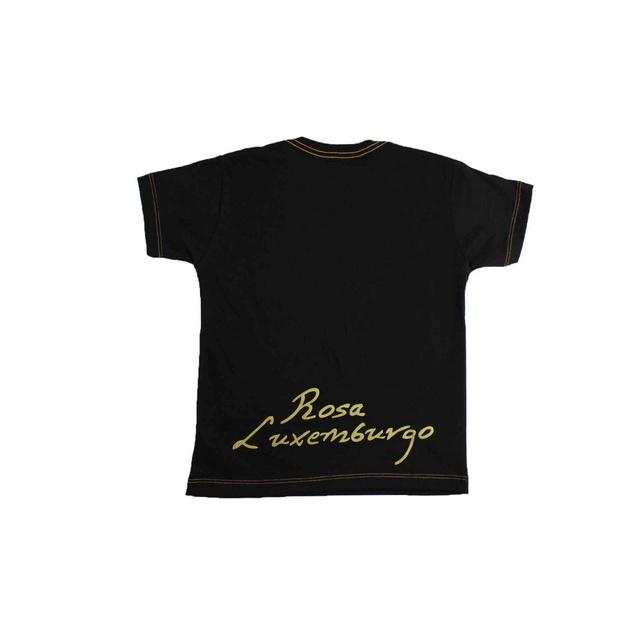 Camiseta Infantil Rosa Luxemburgo Preta