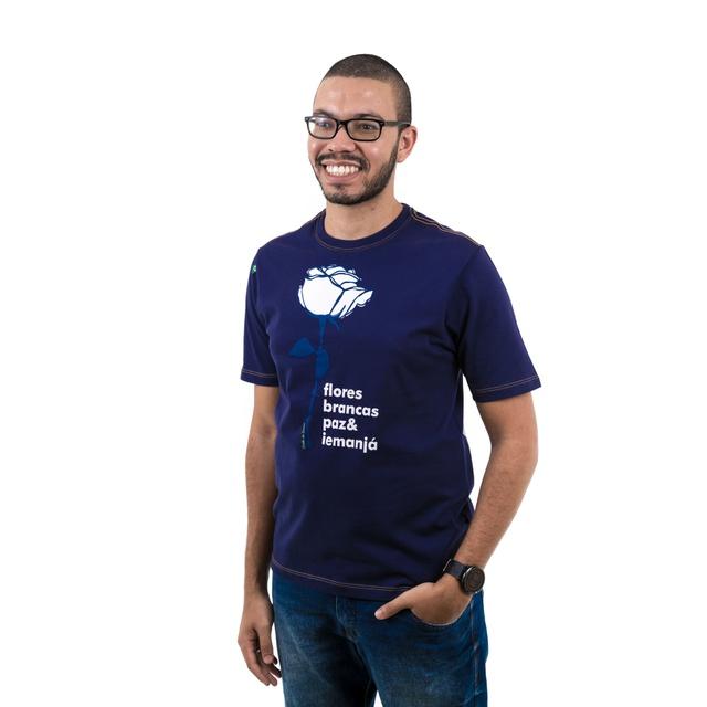 Camiseta Iemanjá Flor Marinho