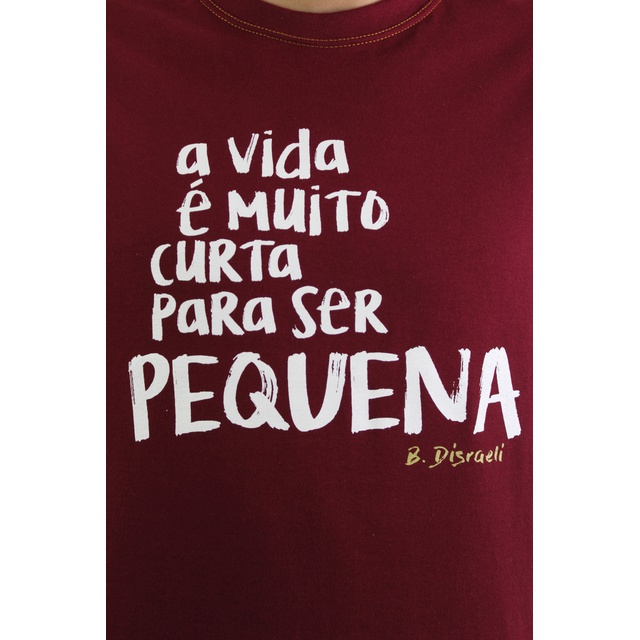 Camiseta Disraeli Bordô