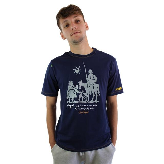 Camiseta Dom Quixote Sabedoria Marinho