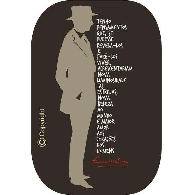 Babylook Fernando Pessoa Preta