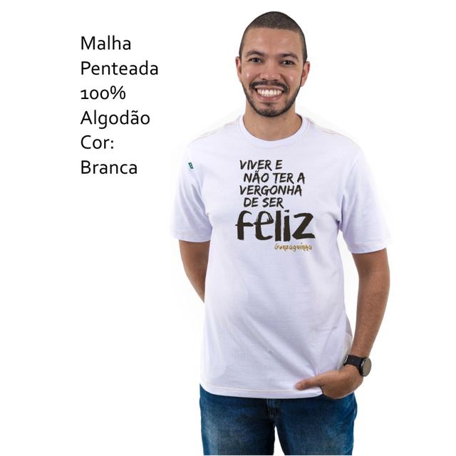 Camiseta Gonzaguinha Branca