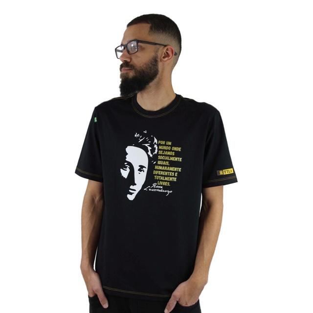 Camiseta Rosa Luxemburgo Preta