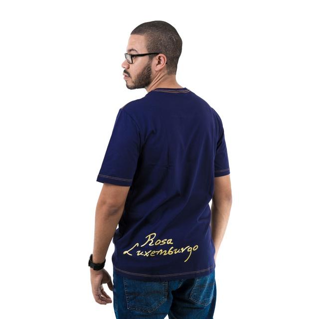 Camiseta Rosa Luxemburgo Marinho