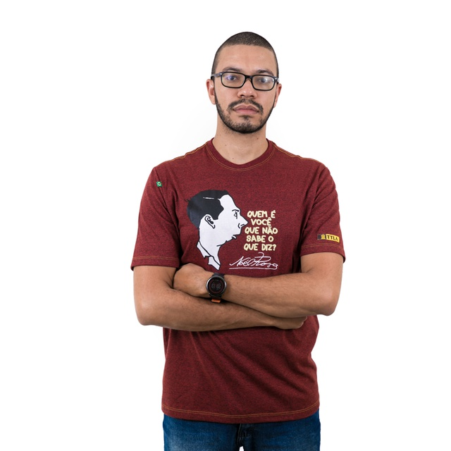 Camiseta Noel Rosa Bordô Mescla