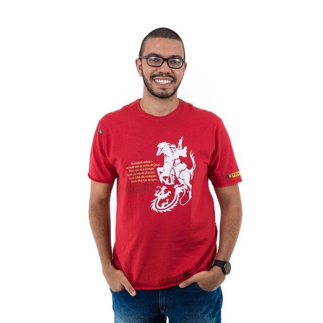Camiseta Ogum Mescla Vermelha