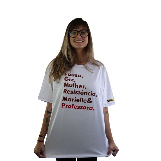 Camiseta Marielle Professora Branca