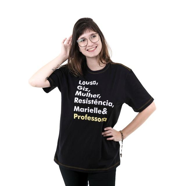 Camiseta Marielle Professora Preta