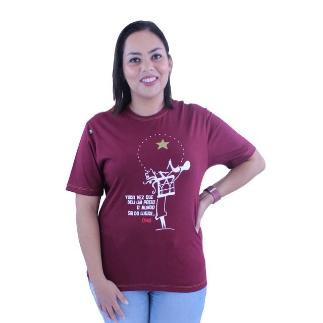 Camiseta Siba Bordô