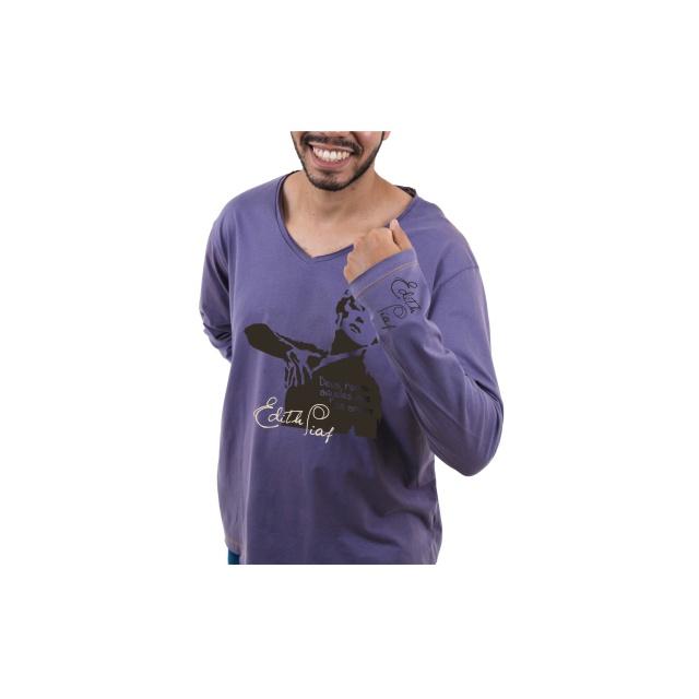 Camiseta Manga Longa Edith Piaf