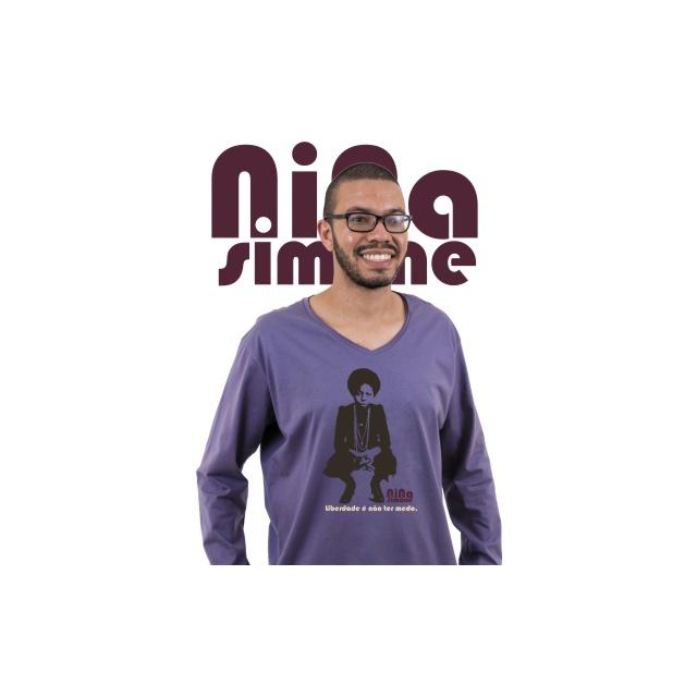 Camiseta Manga Longa Nina Simone Liberdade