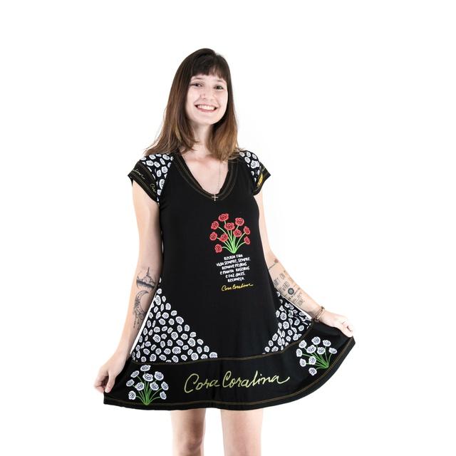Vestido Cora Coralina Preto