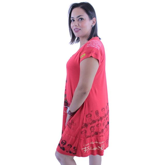 Vestido Frida Kahlo Vermelho