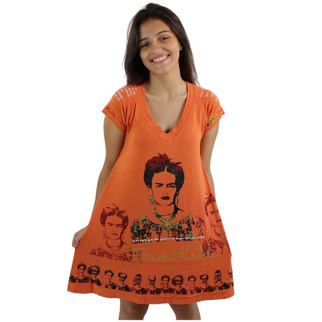 Vestido Frida Kahlo Laranja