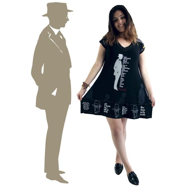Vestido Fernando Pessoa Preto