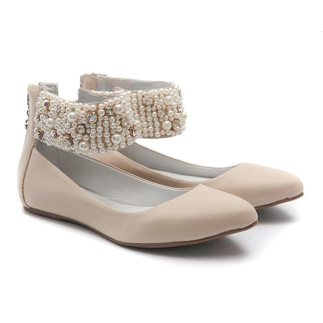 Sapato de Tornozeleiras Pérola Infantil Gats