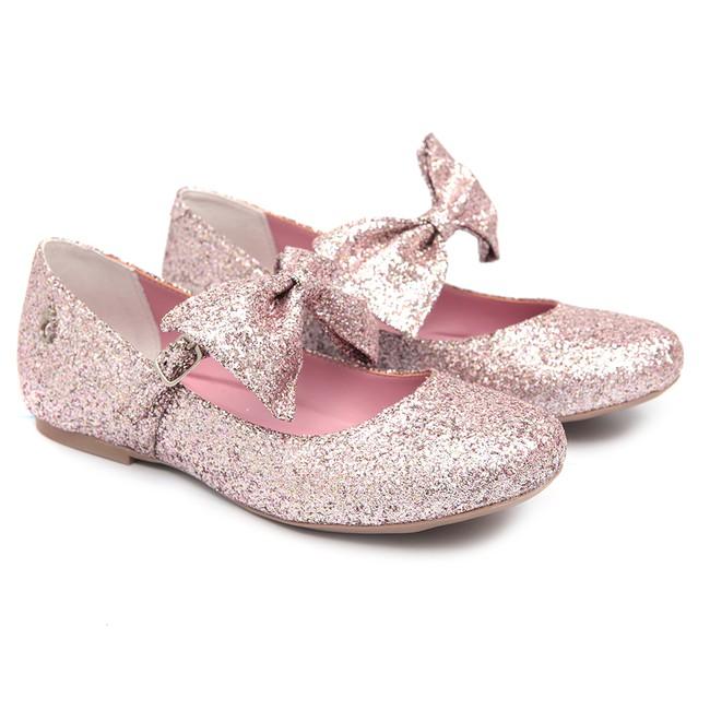 Sapato Boneca Laço Rosa Infantil Gats