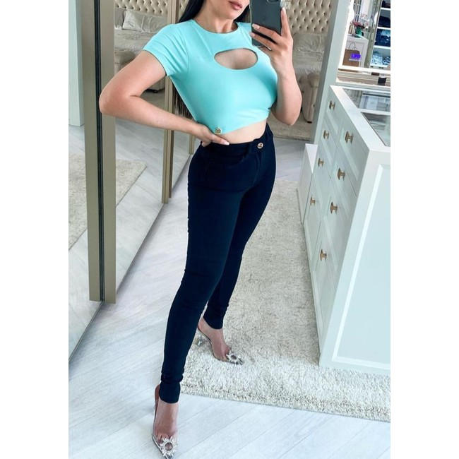 Calça Jeans Melinda  Básico Preto