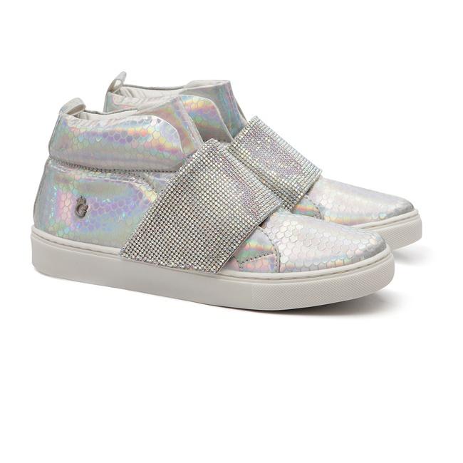 Tênis Sneaker Holográfico Gats Menina Strass