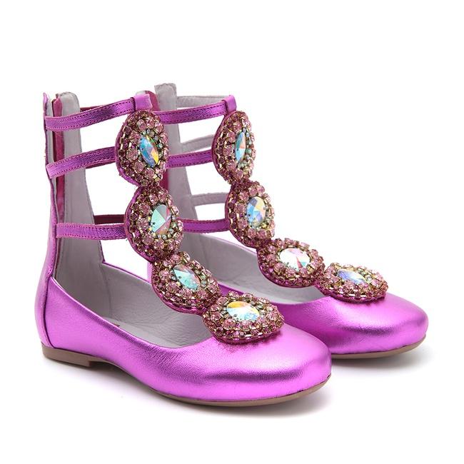 Sapato Infantil Gats Metalizado Pink