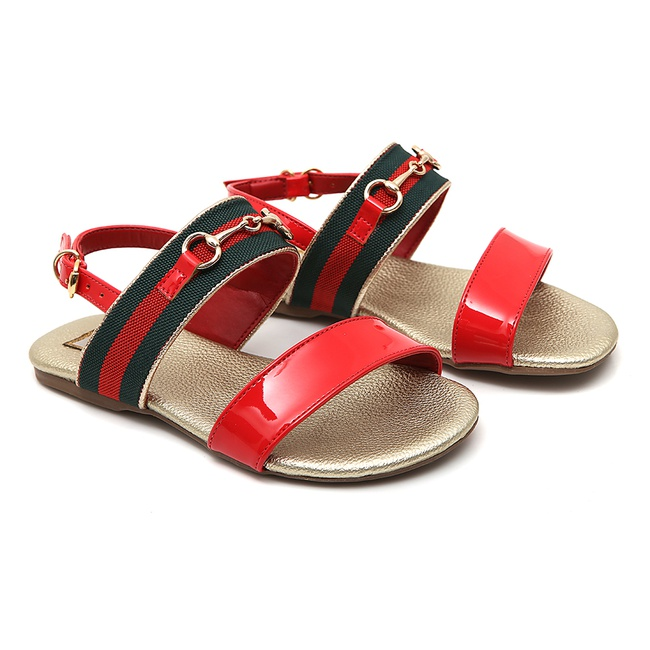 Sandália Feminina Vermelha Gats