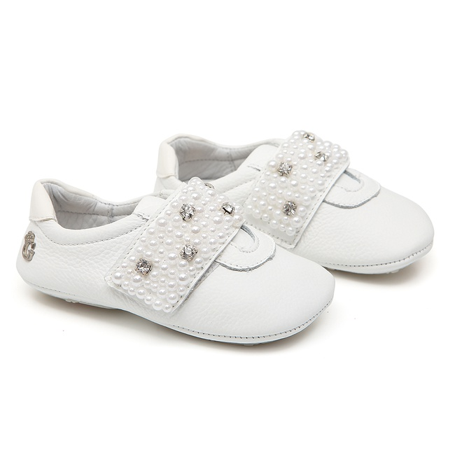 Tênis Baby Pérolas Branco Gats