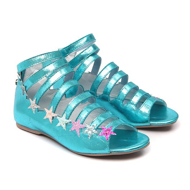 Sandália Estrelas Azul Gats