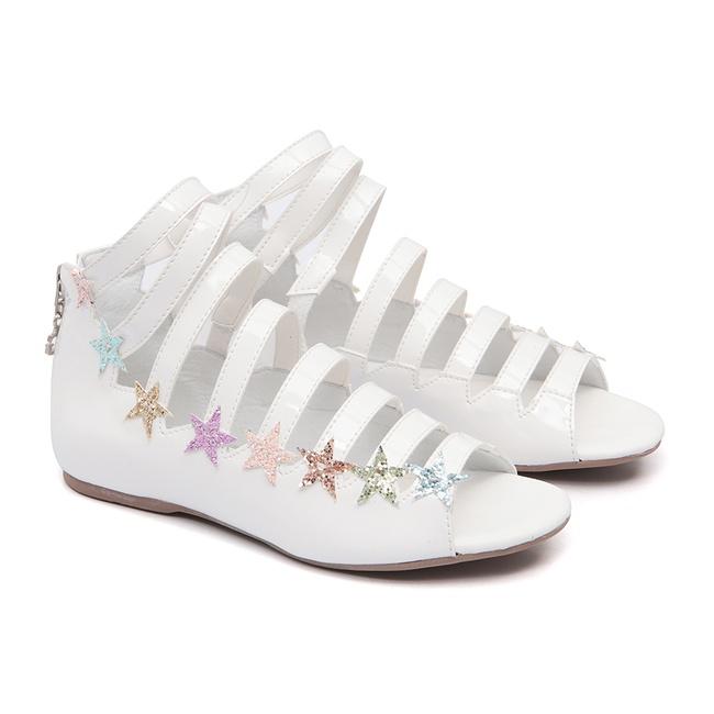 Sandália Estrelas Branca Gats