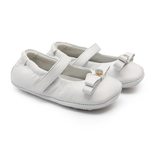 Sapatinho de Bebê Feminino Branco Gats