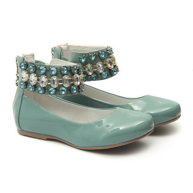 Sapato de Tornozeleiras Infantil Verniz Verde Gats