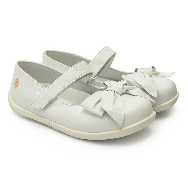 Sapato Branco de Laço Infantil Gats